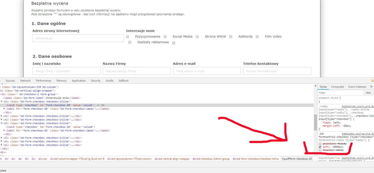 Problem checkbox not display - BillionAnswers