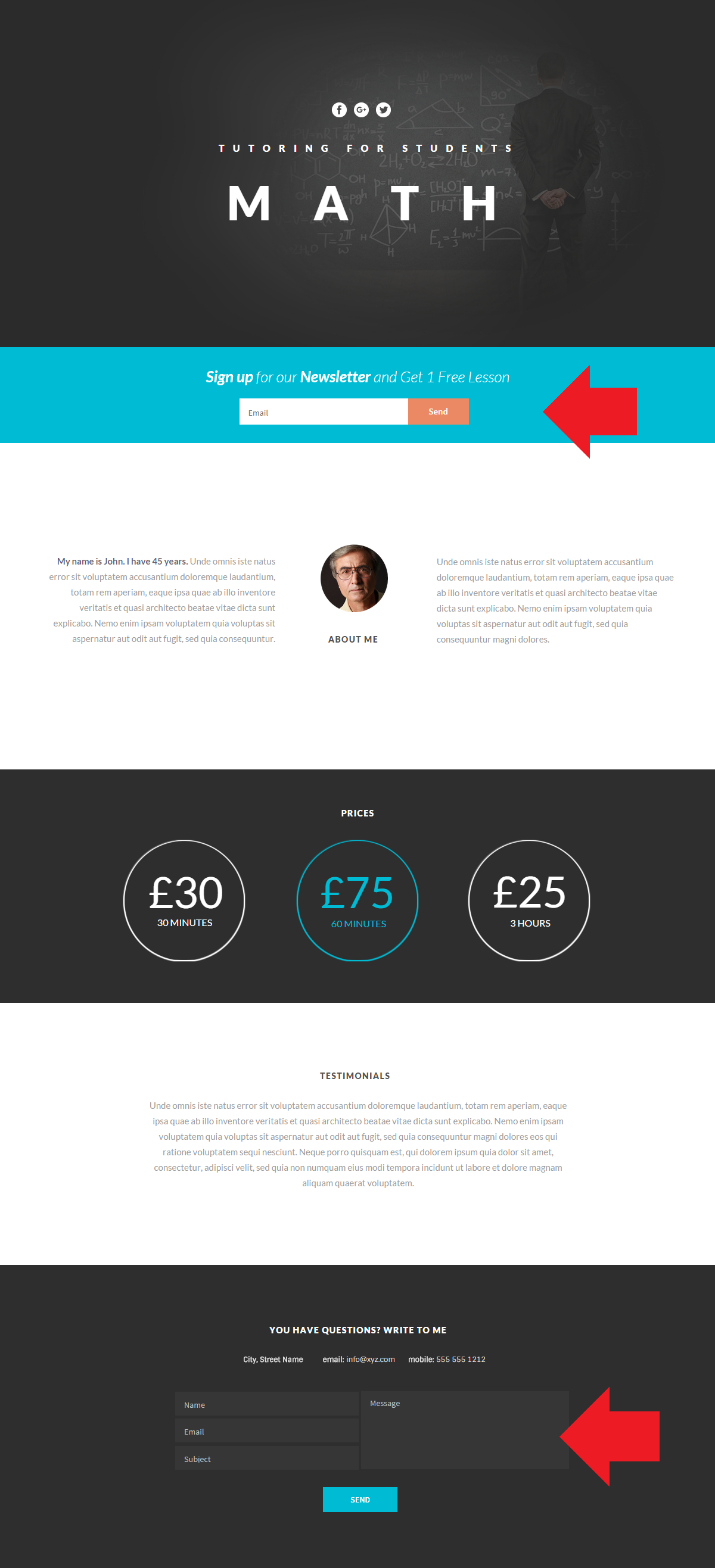 Landing page In Themler for HTML - BillionAnswers