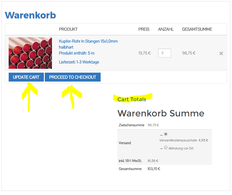 Woocommerce Shopping Cart - wrong language - BillionAnswers