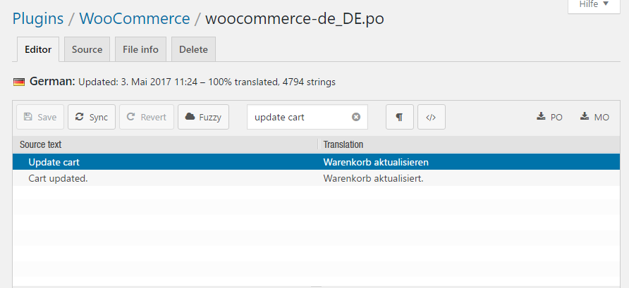 Woocommerce Shopping Cart - wrong language - BillionAnswers
